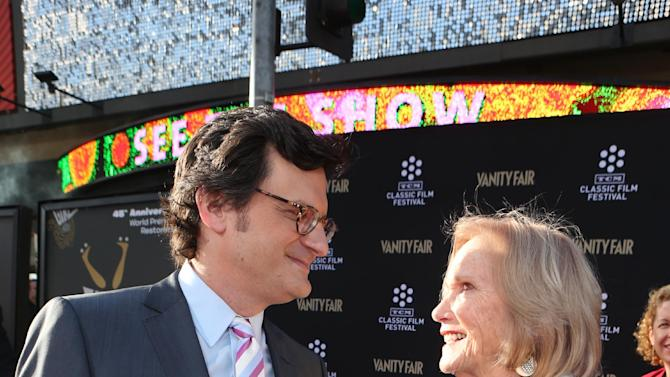 Host Ben Mankiewicz and actress Eva Marie Saint at the 2013 TCM Classic Film Festival's Opening Night Gala at the TCL Chinese Theatre on Thursday, April 25, 2013 in Los Angeles. (Photo by Alexandra Wyman/Invision/AP)