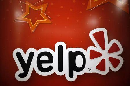 The Yelp Inc. logo is seen in their offices in Chicago
