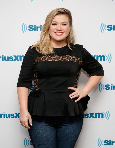 Kelly Clarkson visits SiriusXM Studio on March 3, 2015 in New York City -- Getty Images