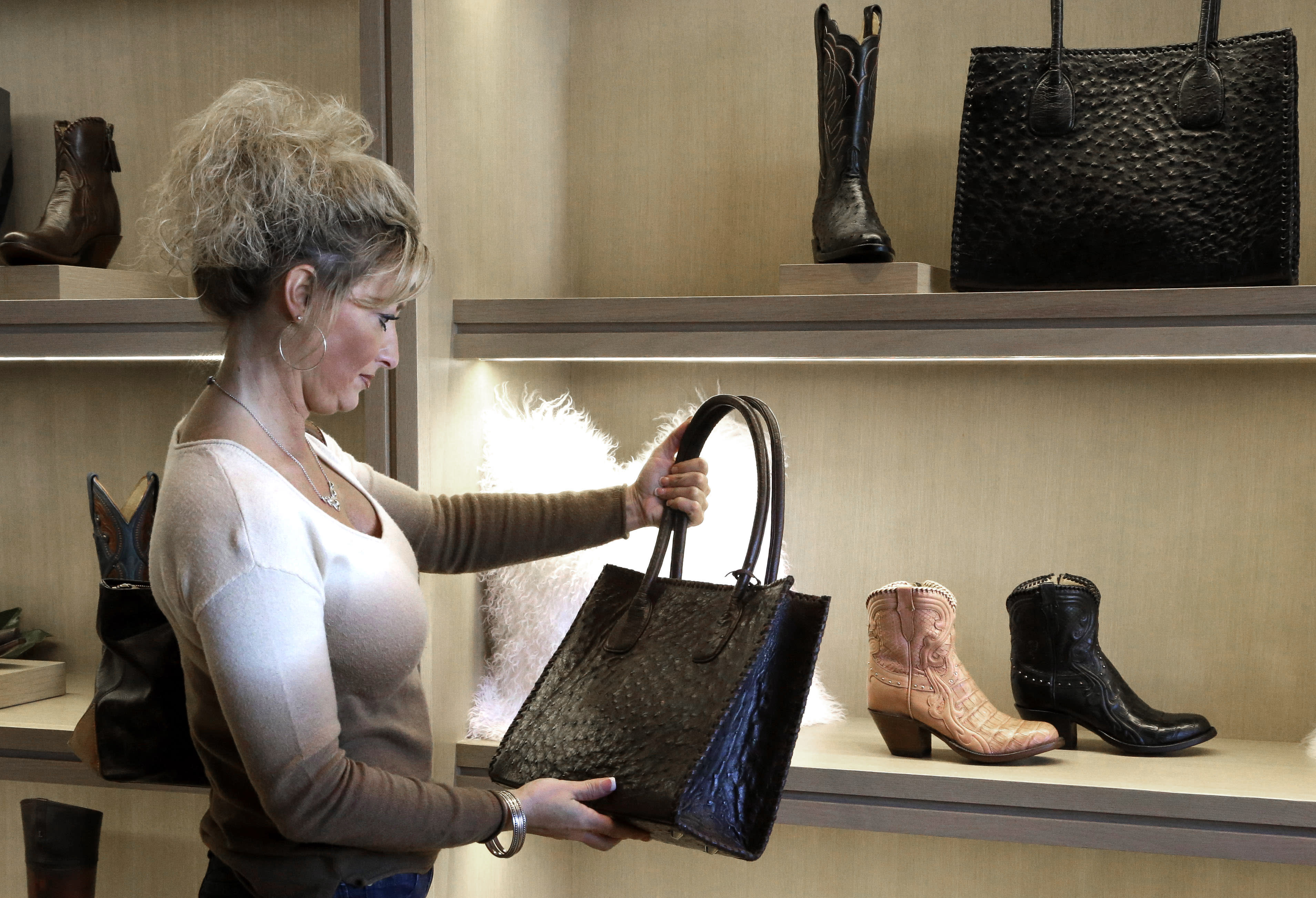 Bootmaker Lucchese expands to heels, purses
