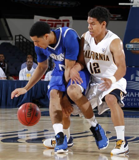 Cal outlasts Drake for 73-70 win