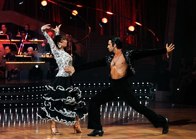 Gilles Marini and Cheryl Burke perform the Paso Doble to &quot;Habanera&quot; by Charlotte Church on &quot;Dancing with the Stars.&quot; 