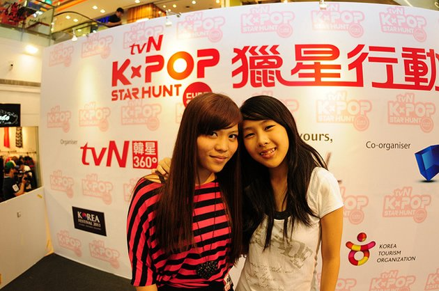 The Singapore representatives of tvN K-Pop Star Hunt 23-year-old Maressa Zahirah and 16-year-old Jasmine Tan. (Photo courtesy of SPRG)