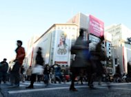 Tokyo's Ginza shopping district is pictured on December 1, 2012. A 5.7-magnitude earthquake hit Japan on Monday, setting buildings in the capital swaying but causing no risk of a tsunami, seismologists said