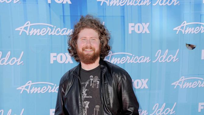 Casey Abrams arrives at the American Idol Finale on Wednesday, May 23, 2012 in Los Angeles. (Photo by Jordan Strauss/Invision/AP)