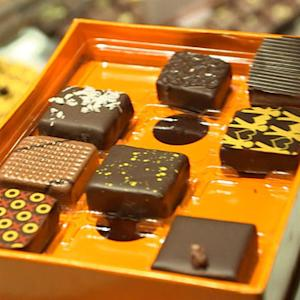 Chocolatier Jacques Torres shows off his new chocolate factory