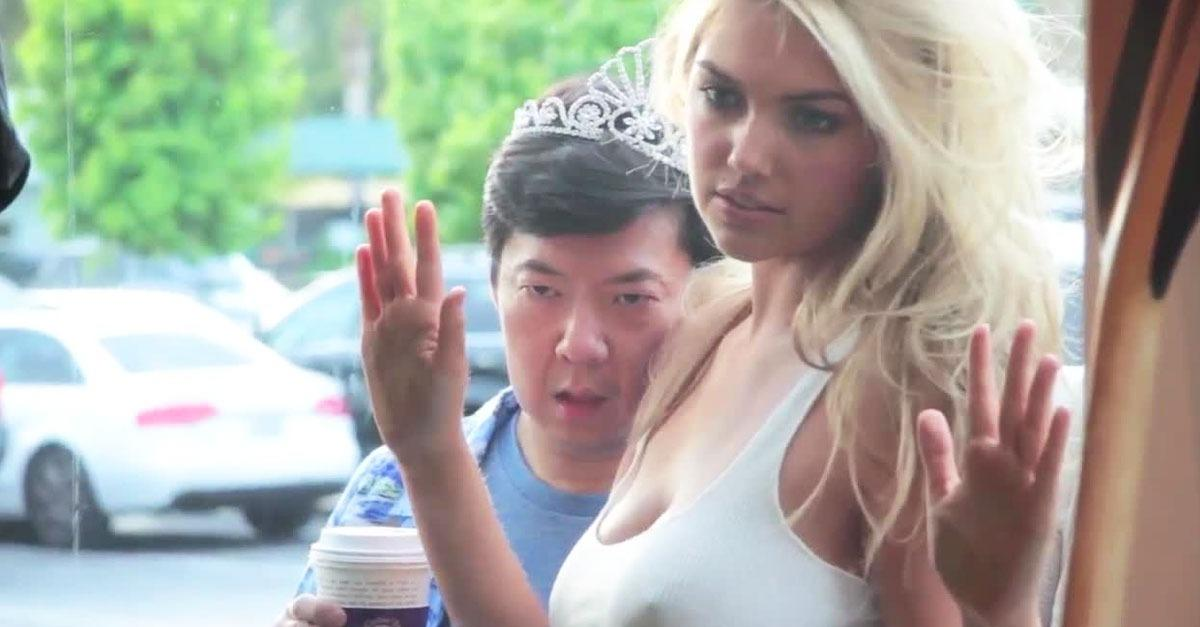 Ken Jeong Photobombs Kate Upton's GQ Photo Shoot