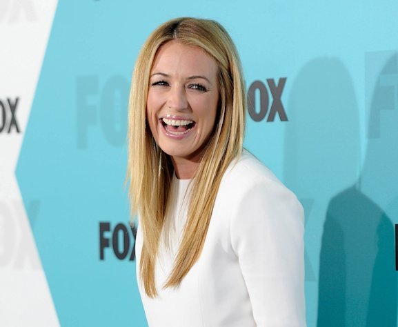 FILE - This May 14, 2012 file photo shows Cat Deeley, host of &quot;The Choice&quot; and &quot;So You Think You Can Dance&quot; at the FOX network upfront presentation party at Wollman Rink in New York. The Choice, premiering Thursday at 9 p.m. EST on Fox, essentially pairs real people with celebrities. (AP Photo/Evan Agostini, file)