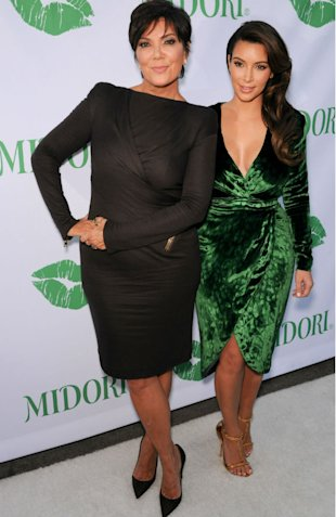 Kim Kardashian Stuns In Green Velvet Dress But Suffers Wardrobe Malfunction!