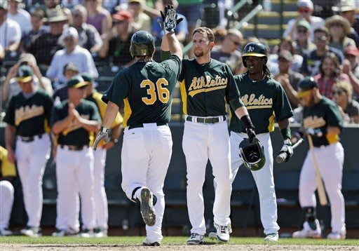Morse's 6th homer helps A's beat Mariners 6-5