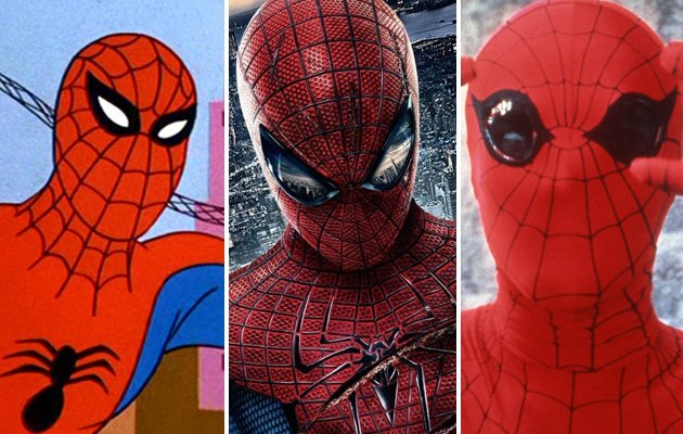 The changing face of Spider-Man