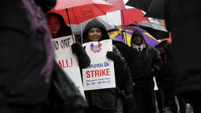 NYC school bus drivers, aides go on strike