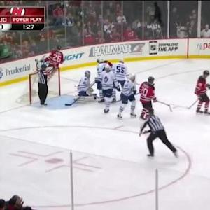 Jonathan Bernier Save on Patrik Elias (08:30/2nd)