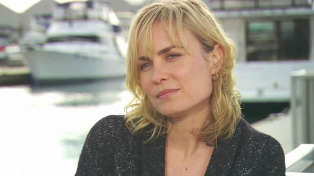 Radha Mitchell on the Vancouver set of 'Red Widow,' 2013 -- Access Hollywood