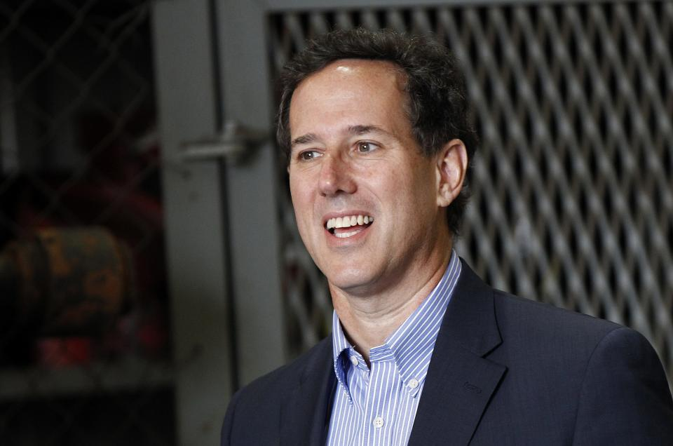 Republican presidential candidate, former Pennsylvania Sen. Rick Santorum speaks at Superior Energy in Harvey, La., Wednesday, March 21, 2012. (AP Photo/Gerald Herbert)