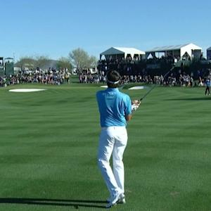 Bubba Watson's approach sets up tap-in birdie at Waste Management