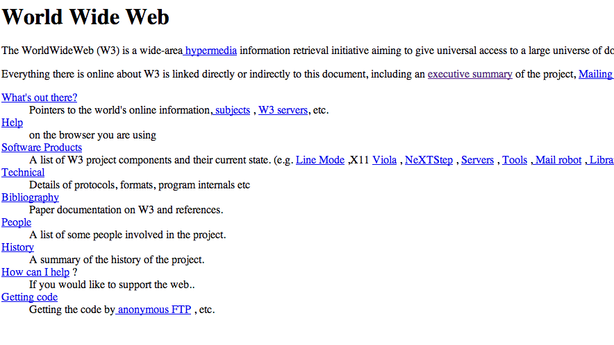 This Is the First World Wide Web Page of All Time
