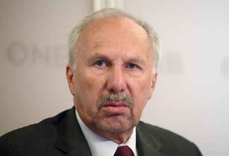 Austrian National Bank Governor Nowotny presents the bank's 2015-2017 economic forecast for Austria
