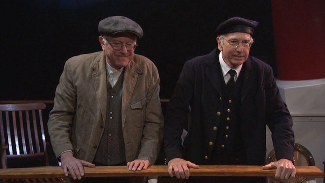 Larry David and Bernie Sanders Share a 'Huge' Moment on 'Saturday Night Live'
