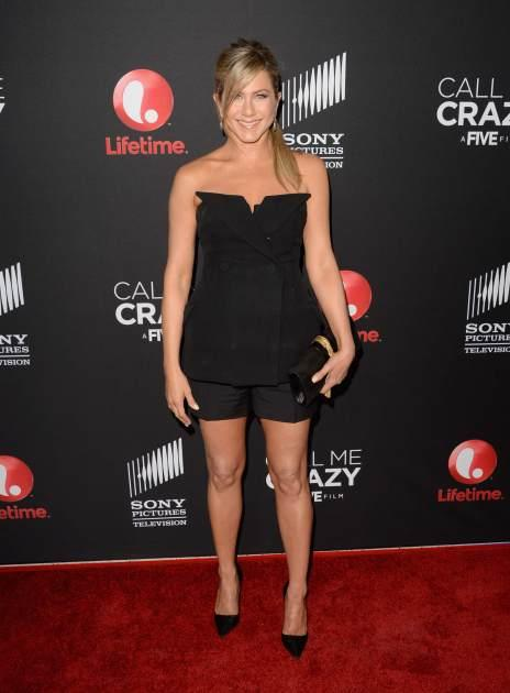 Jennifer Aniston attends the premiere of Lifetime's 'Call Me Crazy: A Five Film' at Pacific Design Center on April 16, 2013 in Hollywood -- Getty Images