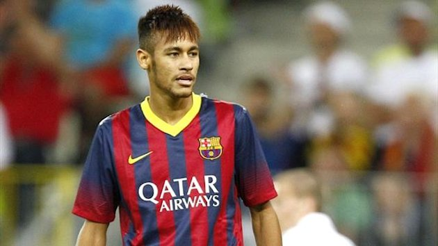 Neymar in pre-season action for Barcelona