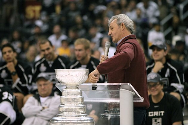 Head Coach Darryl Sutter Of The Los Angeles Kings Addresses Getty Images