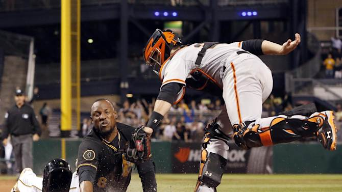 Call overturned, Marte safe, Pirates nip SF in 9th