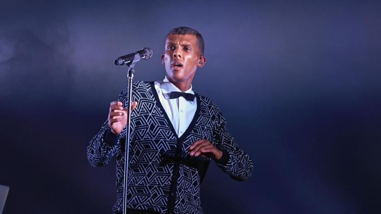Belgian singer Stromae performs during the 39th Paleo Festival in Nyon