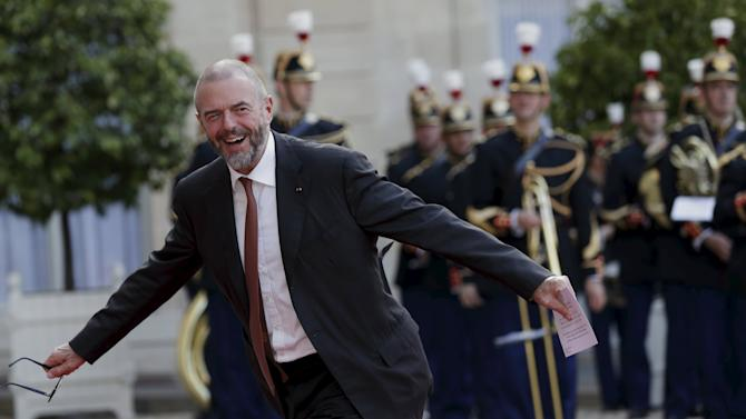 Jean-Paul Cluzel arrives at the Elysee Palace in Paris