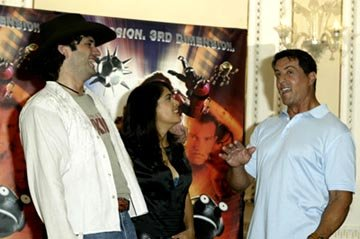 Robert Rodriguez, Salma Hayek and Sylvester Stallone Spy Kids 3-D: Game Over Venice Film Festival - 8/29/2003