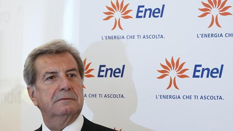 Enel SpA CEO Fulvio Conti looks on during the opening of an Enel flagship store in downtown Milan