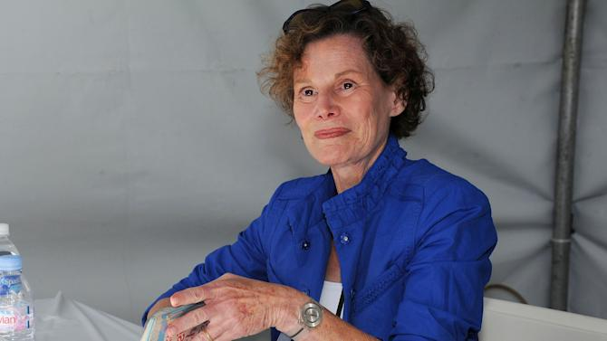 "FILE - This April 21, 2012 file photo shows author Judy Blume attending the LA Times Festival of Books at the USC Campus in Los Angeles. Blume says she was diagnosed with breast cancer over the summer but is ""feeling stronger every day"" after surgery. The 74-year-old Blume wrote on her blog Wednesday, Aug. 5, that she learned in June that she had cancer and underwent a mastectomy and reconstruction in late July. She writes that she now walks a couple of miles each morning and dines out at night. Blume hopes to begin writing again soon.(AP Photo/Katy Winn, file)"