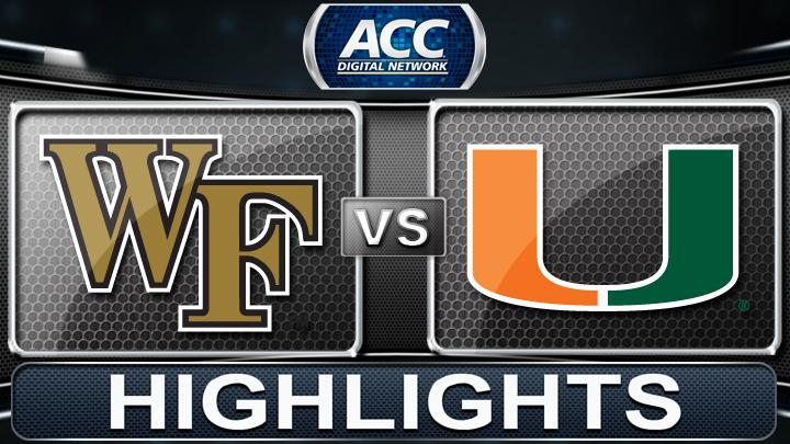 Wake Forest vs Miami | 2013 ACC Football Highlights