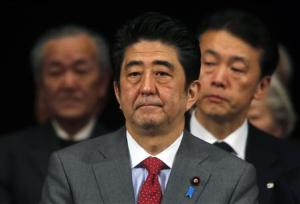 Japan's PM Abe attends a Northern Territories Day rally in Tokyo