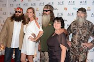 (L-R) Willie Robertson, Korie Robertson, Phil Robertson, Miss Kay Robertson and Si Robertson of Duck Dynasty attend the A+E Networks 2012 Upfront at Lincoln Center on May 9, 2012 in New York