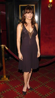 Gina Gershon at the New York premiere of Warner Brothers' Troy