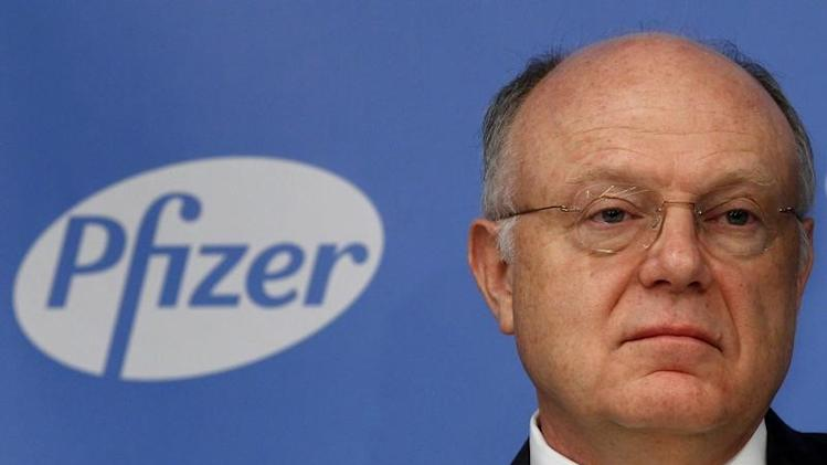 Ian Read, CEO of Pfizer, addresses a news conference in New York