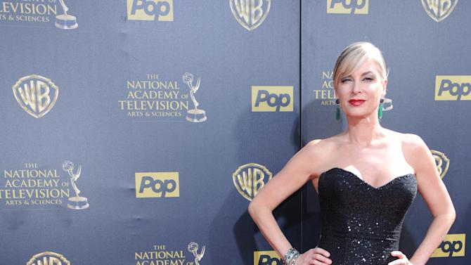 Eileen Davidson arrives at the 42nd annual Daytime Emmy Awards at Warner Bros. Studios on Sunday, April 26, 2015, in Burbank, Calif. (Photo by Richard Shotwell/Invision/AP)