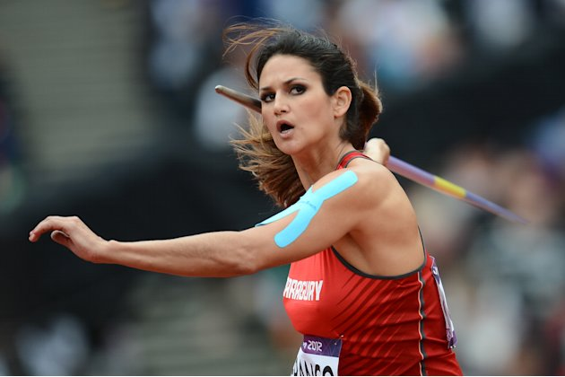 Paraguay's Leryn Franco competes in the