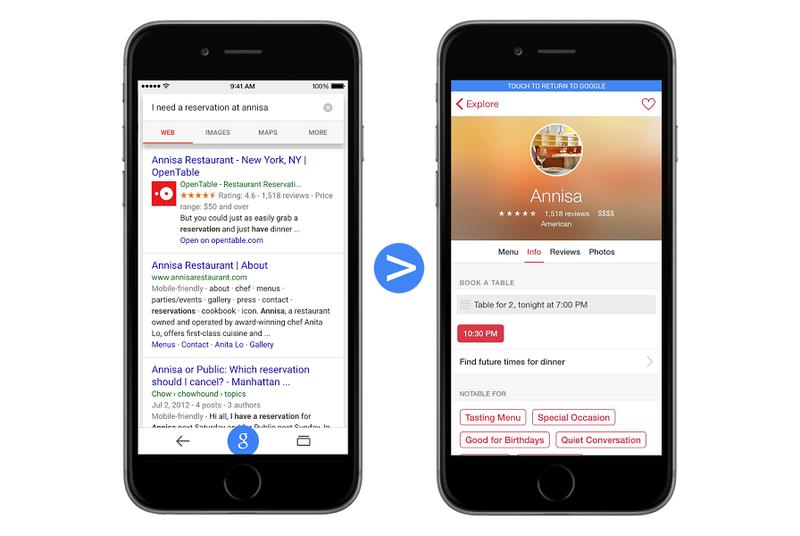 Google will soon link directly to iOS apps in mobile search