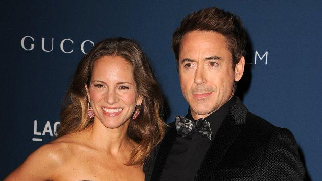 Susan Downey and Robert Downey Jr. arrives at the LACMA 2013 Art + Film Gala at LACMA on November 2, 2013 in Los Angeles -- Getty Images