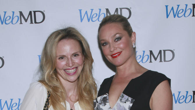 IMAGE DISTRIBUTED FOR WEBMD  - In this image release on Thursday May 23, 2013, Elisabeth Rohm and Rosie Pope celebrate healthy living at WebMD's Spring Innovation event in New York City. (Photo by Sylvain Gaboury/patrickmcmullan.com)