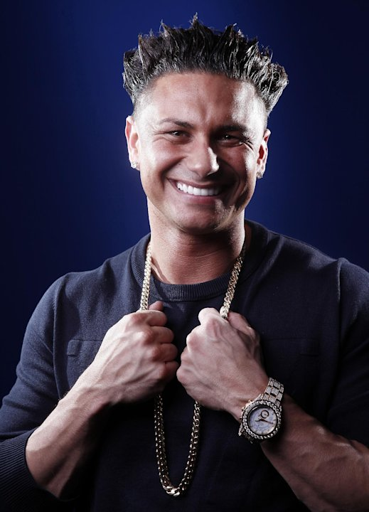 "In this March 27, 2012 photo, TV personality Paul ""Pauly D"" DelVecchio poses for a portrait in New York. DelVecchio will have his own spin-off of ""Jersey Shore"" called ""The Pauly D Project,"" premierin"