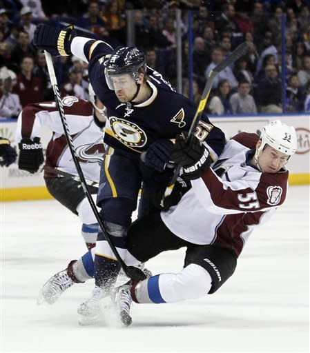 Blues blank Avalanche 4-0