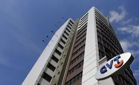 The headquarters of Brazilian broadband company GVT is seen in Curitiba