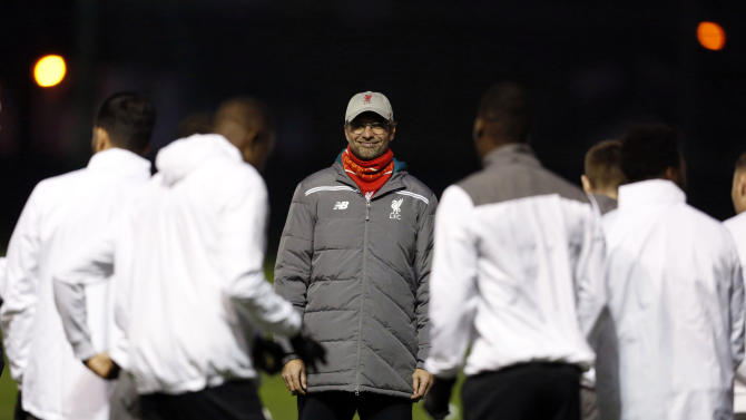 Liverpool manager Juergen Klopp during training