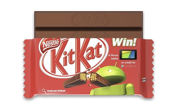 KitKat bar with Android