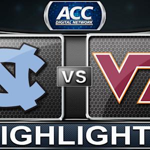 North Carolina vs Virginia Tech | 2014 ACC Basketball Highlights