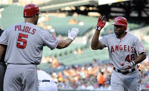Angels rout Orioles 13-1 for 2-game sweep