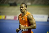 Jamaican sprinter Yohan Blake reacts after finishing first in the men&#39;s 200m dash final at the Jamaican Olympic Athletic Trials on July 1. Blake upset Usain Bolt by winning the 200m in 19.80 seconds, just two days after beating him in the 100m
